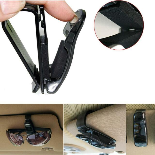 Pen Ticket Plastic Sun Visor Portable Car Eyeglass Clip Holder Black