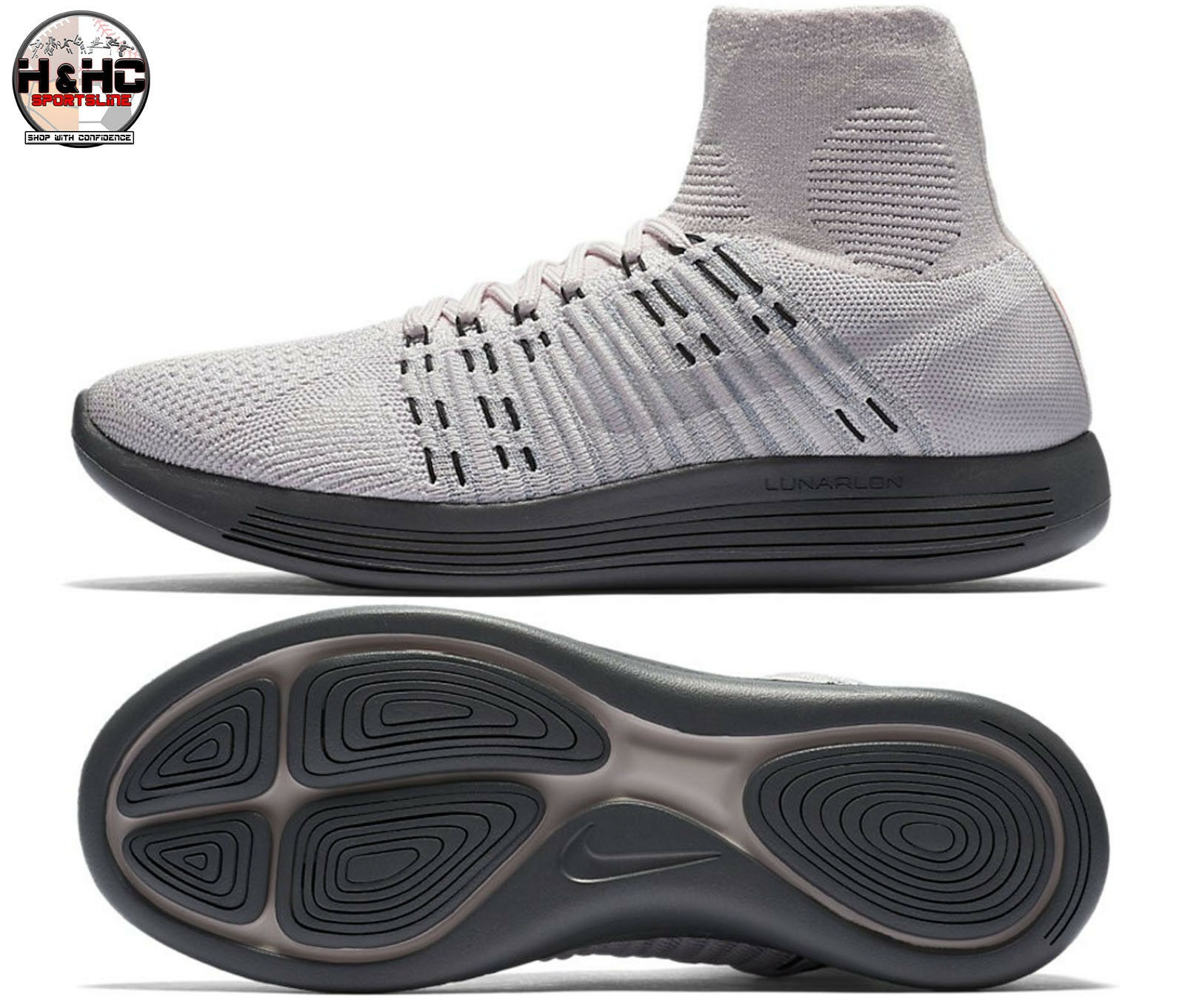 NikeLab Lunarepic Flyknit 831112 600 Pearl Pink Women's Running shoes Sz 8.5
