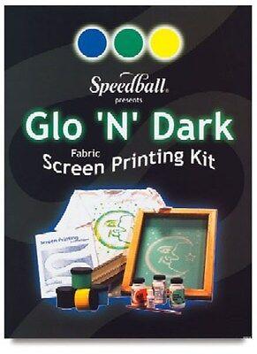 Speedball Glo N Dark Fabric Screen Printing Kit 4520