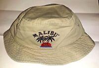 Malibu Rum Bucket Hat Cap, Embroidered Brand 1sfa, I Gear