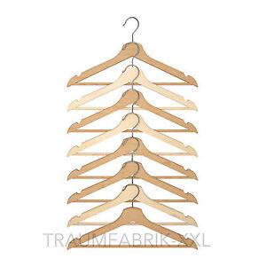 Ikea 8 x legno grucce abiti naturale in gaderobenb gel con - Grucce legno ikea ...