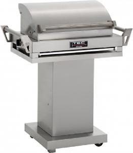 TEC-36-034-G-Sport-FR-Propane-Gas-Grill-On-Stainless-Steel-Pedestal-GSRLPFR-GSPED