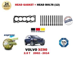 FOR VOLVO XC90 2.5 T 209BHP 2002-2014 NEW ENGINE HEAD GASKET + HEAD BOLTS SET
