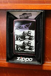 Zippo-034-Aerosmith-Pompa-034-Viola-Nuovo-amp-Originale-1153
