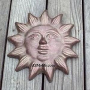 Details about Small Sun concrete plaster cement wall plaque mold