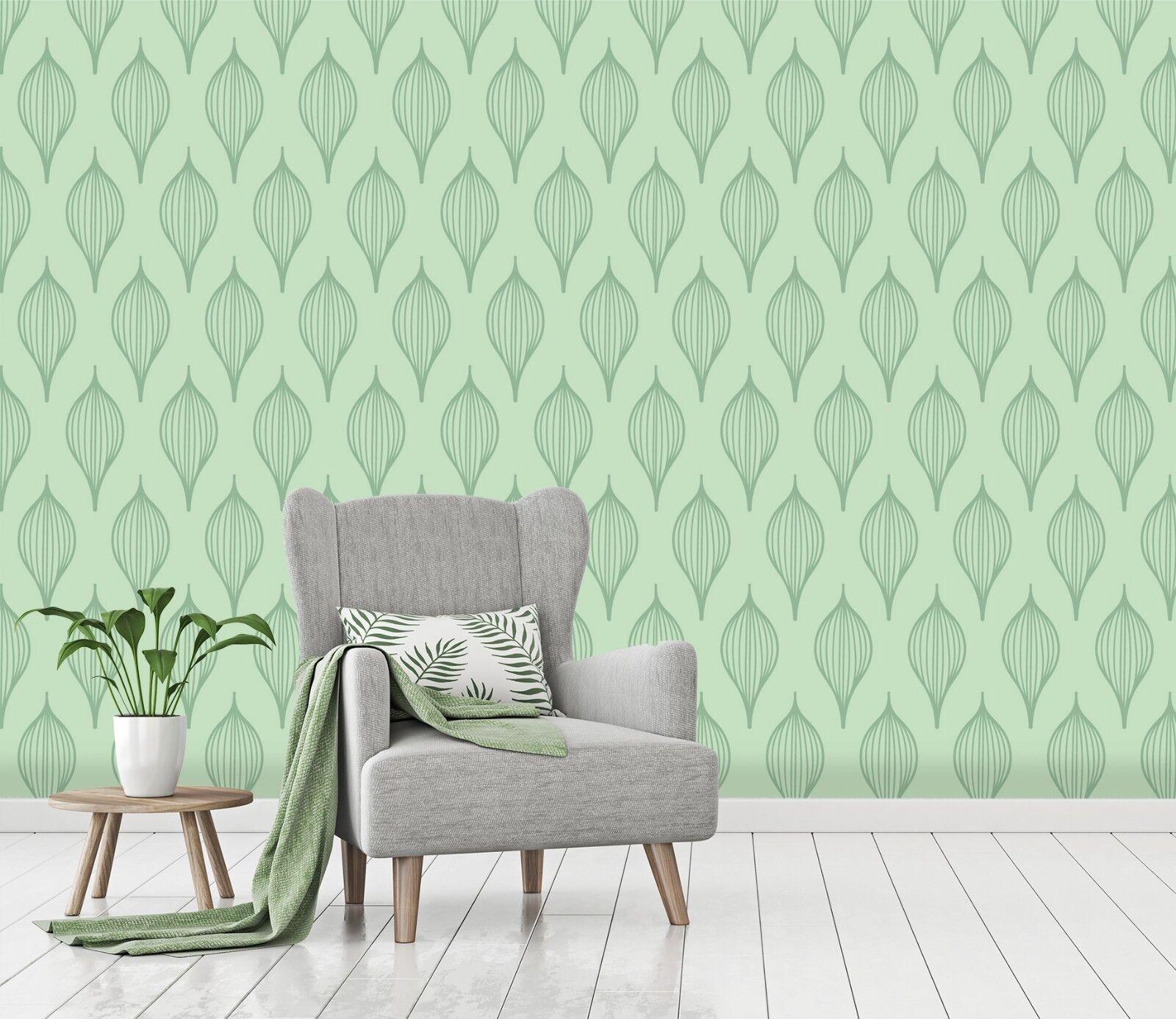 3D Grün Floral Texture 355 WandPapier Mural Wand Drucken Decal Innen Murals AU