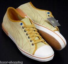 Neu PUMA Laube  Rudolf Dassler Leder Gr.41 UK-7,5 Herren Sneaker Schuhe gelb