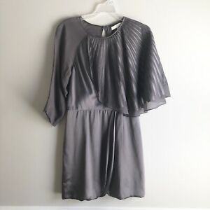 Bcbg Maxazria Runway Dark Gray Mauve Mini Bubble Dress