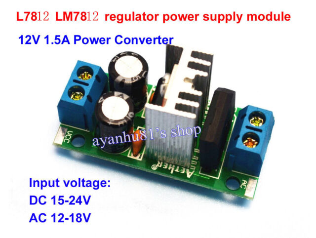 LM7812 L7812 AC/DC to 12V 1.5A Regulator Rectifier Converter Power Supply Module