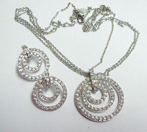 NOLAN-MILLER-Rhinestone-Circles-Necklace-amp-Earrings