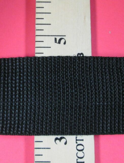 "1.5""-2"" Width Polypropylene BLACK Webbing (Different Lengths)"