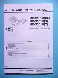 Tv, Video & Audio Service Manual-anleitung Sharp Md-s301h original Wir Haben Lob Von Kunden Gewonnen