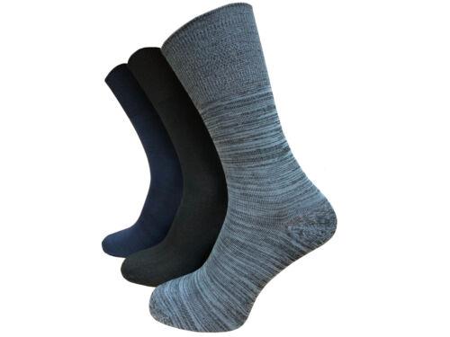3 Paires Hommes Non Élastique Bambou Chaussettes Soft Touch Taille 6-11