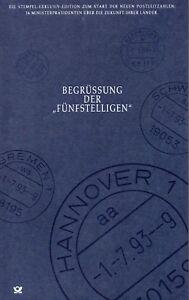 BRD Bund Begrüßung der Fünfstelligen Postleitzahlen - Buch Sonder- Edition (253