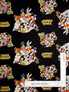 Looney-Tunes-Toons-Cartoon-Character-Scenes-Cotton-Fabric-Camelot-By-The-Yard