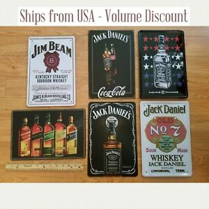 Details about Whiskey Sign, Whiskey Tin Signs, Whiskey Gifts Jack Daniels Sign Jim Beam Sign