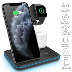 Soporte de cargador inalámbrico 3in1 Qi para iPhone 11 Pro...