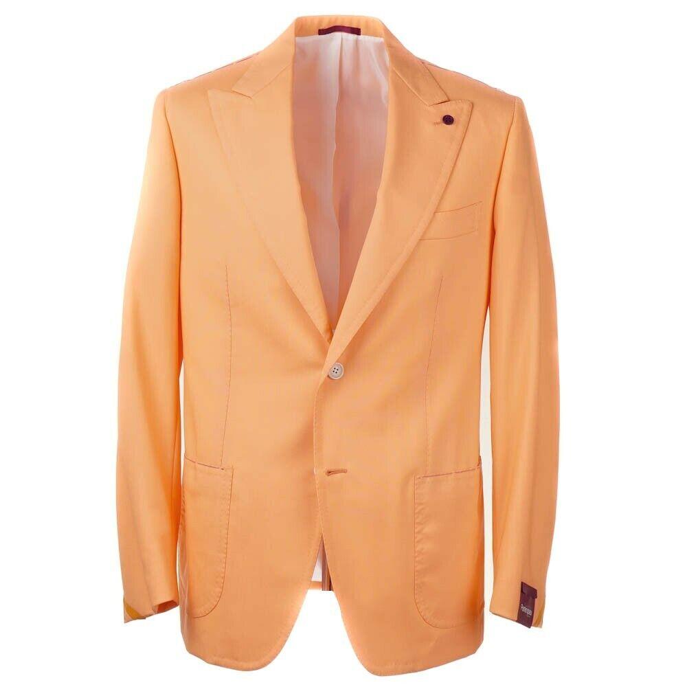 NWT  SARTORIA PARTENOPEA Slim-Fit orange Wool Sport Coat 42 R Peak Lapels