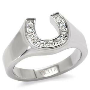 horseshoe wedding rings stainless steel horseshoe ring engagement promise fsh a5 4851