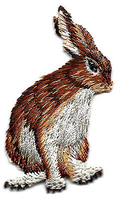 RABBITS -FOREST ANIMAL - BUNNY -Iron On Embroidered Applique Patch/Cute Critter,