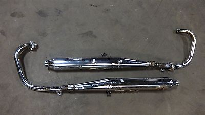 1975 Yamaha XS650 XS 650 Y330. complete exhaust mufflers tail pipes headers