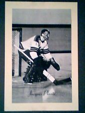 JACQUES PLANTE (NEW YORK RANGERS) '44-63 BEEHIVE GROUP II PHOTO  **SP**