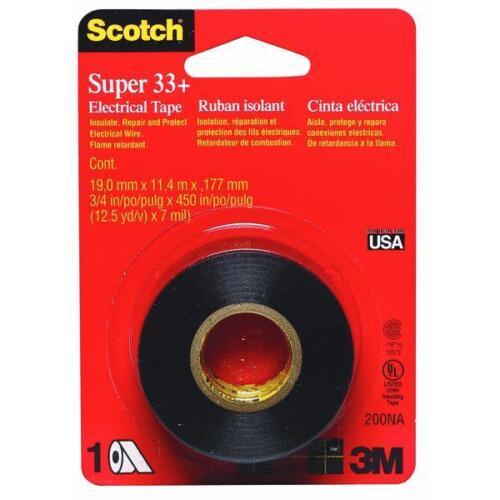 "6 Pk 3M 3//4/"" X 450/"" Black Scotch Vinyl Plastic Electrical Tape UL Listed 200NA"