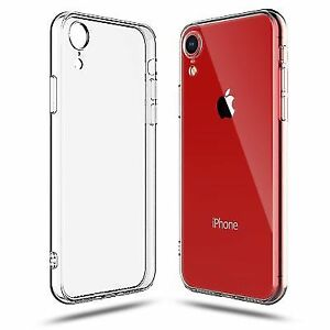 for iPhone XR Clear Transparent Case Shock Absorption TPU Soft Cover US