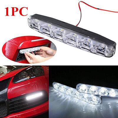 1PC White 6 LED Car Light DRL Daytime Running Driving Head Lamp Super Bright
