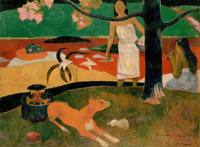 PAINTING LANDSCAPE GAUGUIN SACRED SPRING SWEET DREAMS POSTER ART PRINT BB12525A
