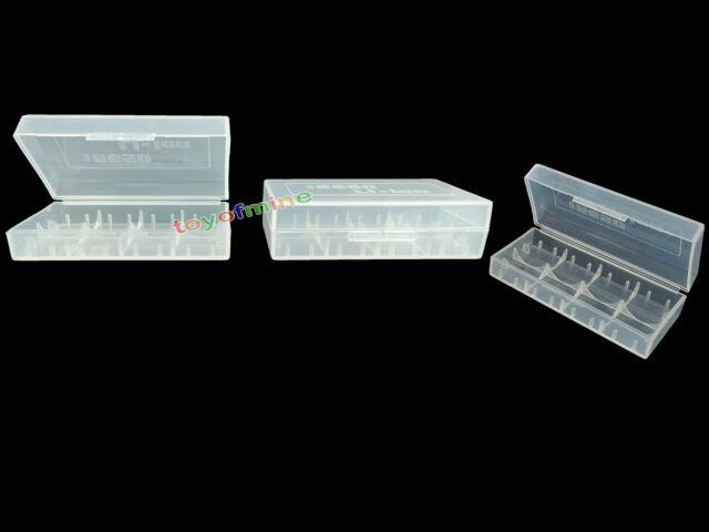 3pcs 18650/17670/16340/CR123A Transparent Clear Battery Case Holder Storage Box