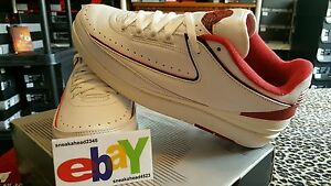 bde01a1d1340 Air Jordan 2 Retro Low 6 26 04 WHITE BLACK-VARSITY RED 309837 101 ...