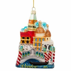 Venice-Italy-Cityscape-Glass-Christmas-Tree-Ornament-Decoration-C7569-New