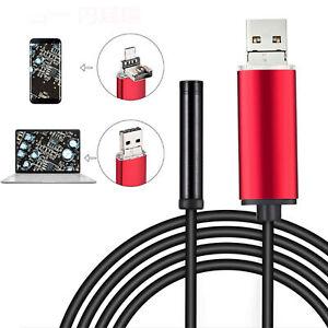 USB-Endoscope-Endoskop-6-ere-de-la-camera-LED-pour-Android-Handy-PC-1-2-5-10M