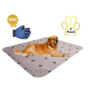 2 Pack Pet Puppy Pads Washable Reusable Dog Training Pee Pads Indoor Potty