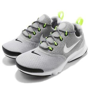 new style 1e6b9 7eac2 Image is loading Nike-Presto-Fly-GS-Wolf-Grey-Kids-Youth-