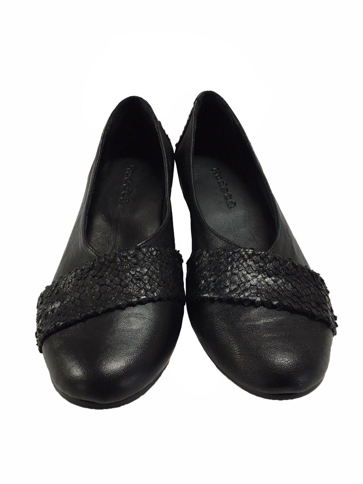 KUDETA' zapatos de mujer negro multi-material talón cm 3 3 3 mod 623403 972f97