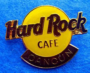 Cancun-Mexico-Clasico-Naranja-Grande-Logo-Hard-Rock-Cafe-Pin-Cuadricula-3LT