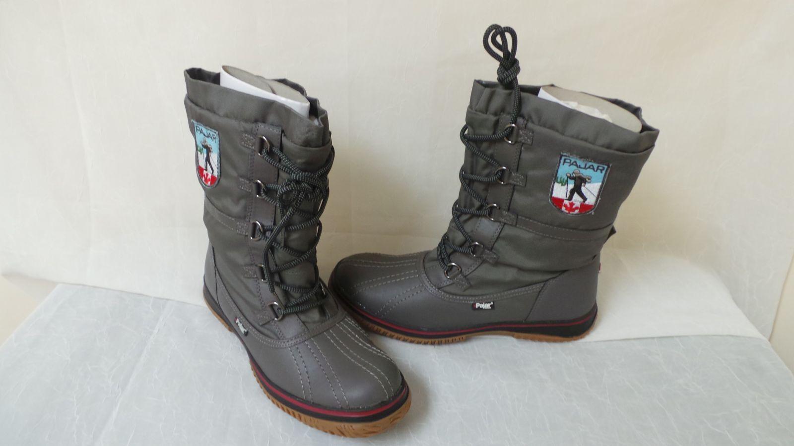 NEU  Pajar Damenschuhe Grip Low Winter Stiefel-Größe 11-Gray   W137    la