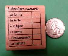 Handwriting Editing Grid-French Teacher's Rubber Stamp