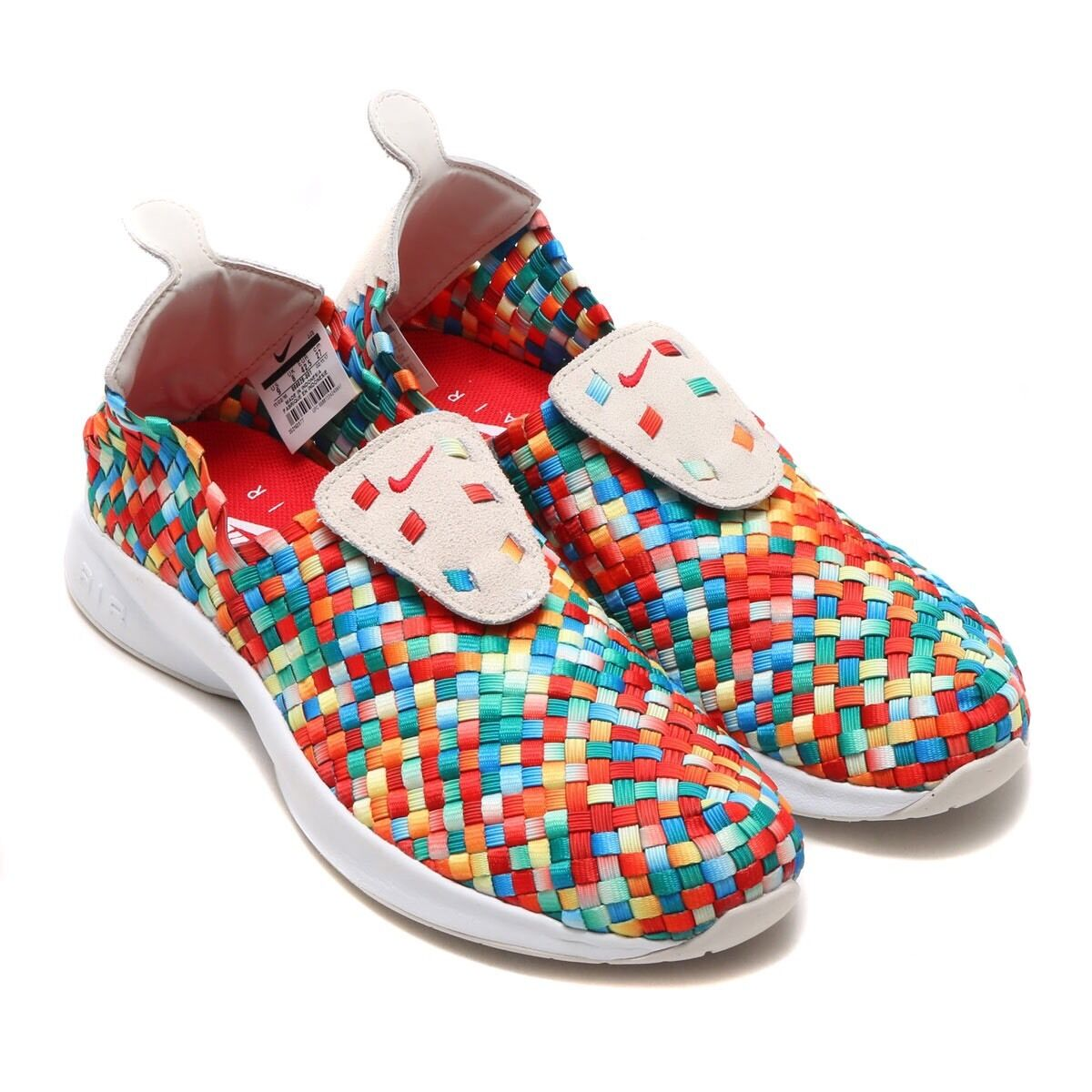 Nike Air Woven PRM Rainbow Light Bone/University Red 898028-001 Men's Comfortable Wild casual shoes