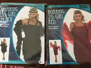 Ladies-Charleston-Flapper-Fancy-Dress-Costume-20s-30s-Gatsby-Gloves-amp-headband