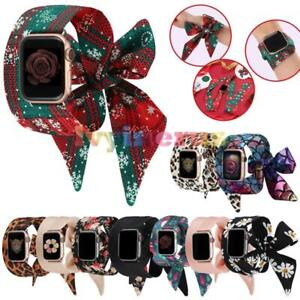 Scrunchies-Christmas-iWatch-Band-Strap-For-Apple-Watch-Series-5-4-3-2-1-38-42mm