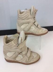 4 Beckett in Hi Marant Uk Stivali 37 taglia Tops Sneaker pelle Vgc beige Isabel scamosciata UPw7E1q