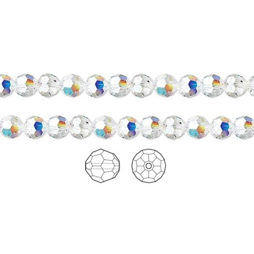 12 Swarovski Beads 5000 4mm 12 Swarovski Crystal Beads Faceted Round 5000 4mm