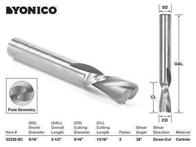 5/16 Durchmesser 2 Schneide Konstruktion Cnc Fräserwerkzeug - Schaft - Yonico