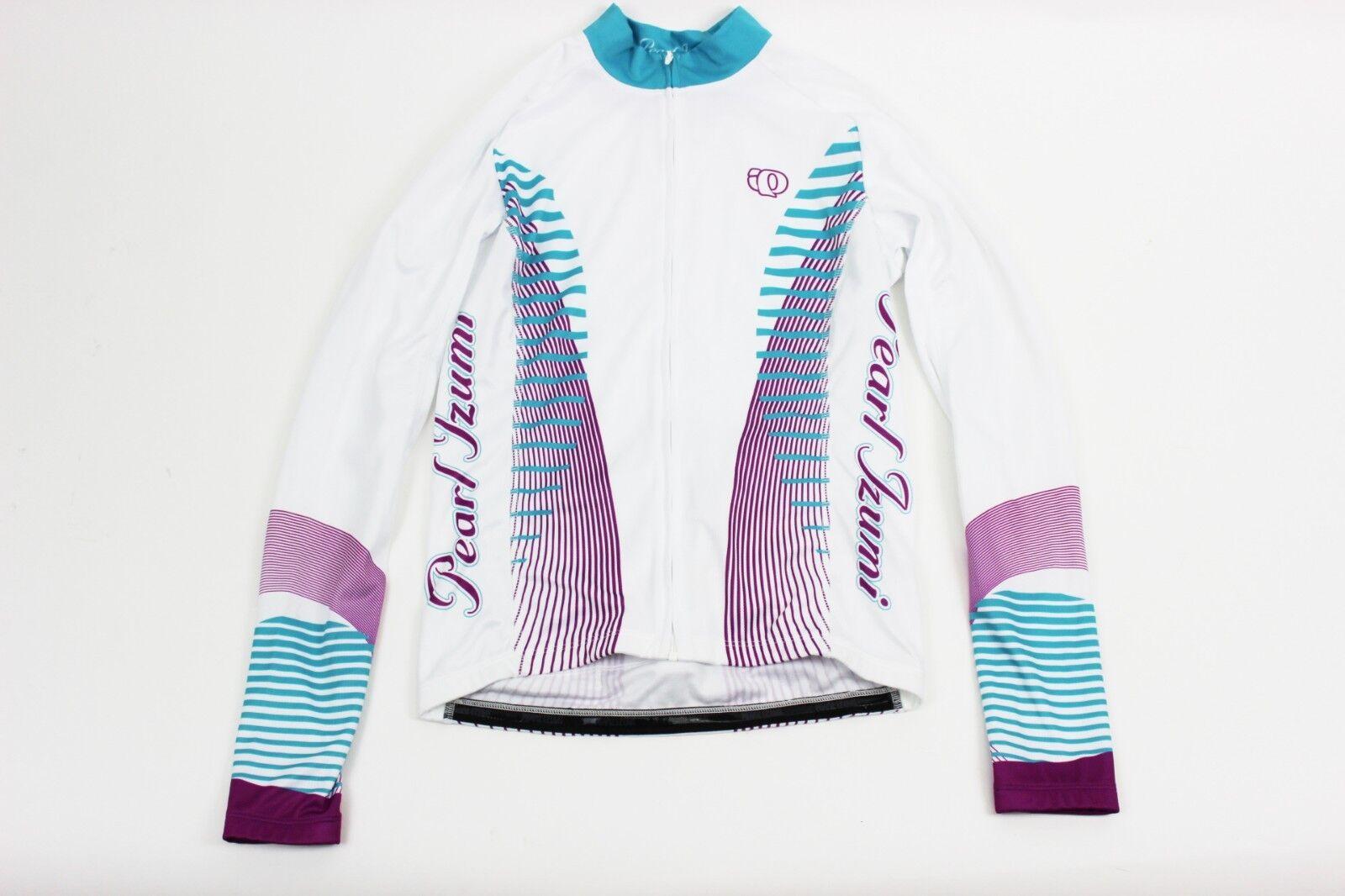 PEARL IZUMI Women's Elite Thermal LTD Jersey, Medium (M) -Futuristic Scuba bluee