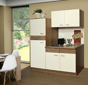SINGLEKÜCHE Pantryküche Kühlschrank Kochplatten Mini Küche 160cm + ... | {Pantryküche mit kühlschrank 25}