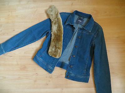 Damen Denim Stretch Jeans Jacke mit Fell Kragen von MEXX Gr.38 | eBay