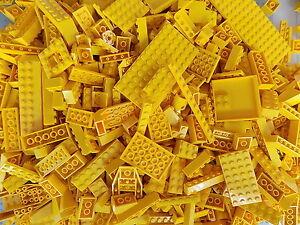 LEGO-Yellow-1-4-lb-Bulk-Lot-of-Bricks-Plates-Specialty-Parts-Pieces